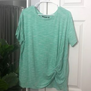 Apt 9 XL teal top with knot detail
